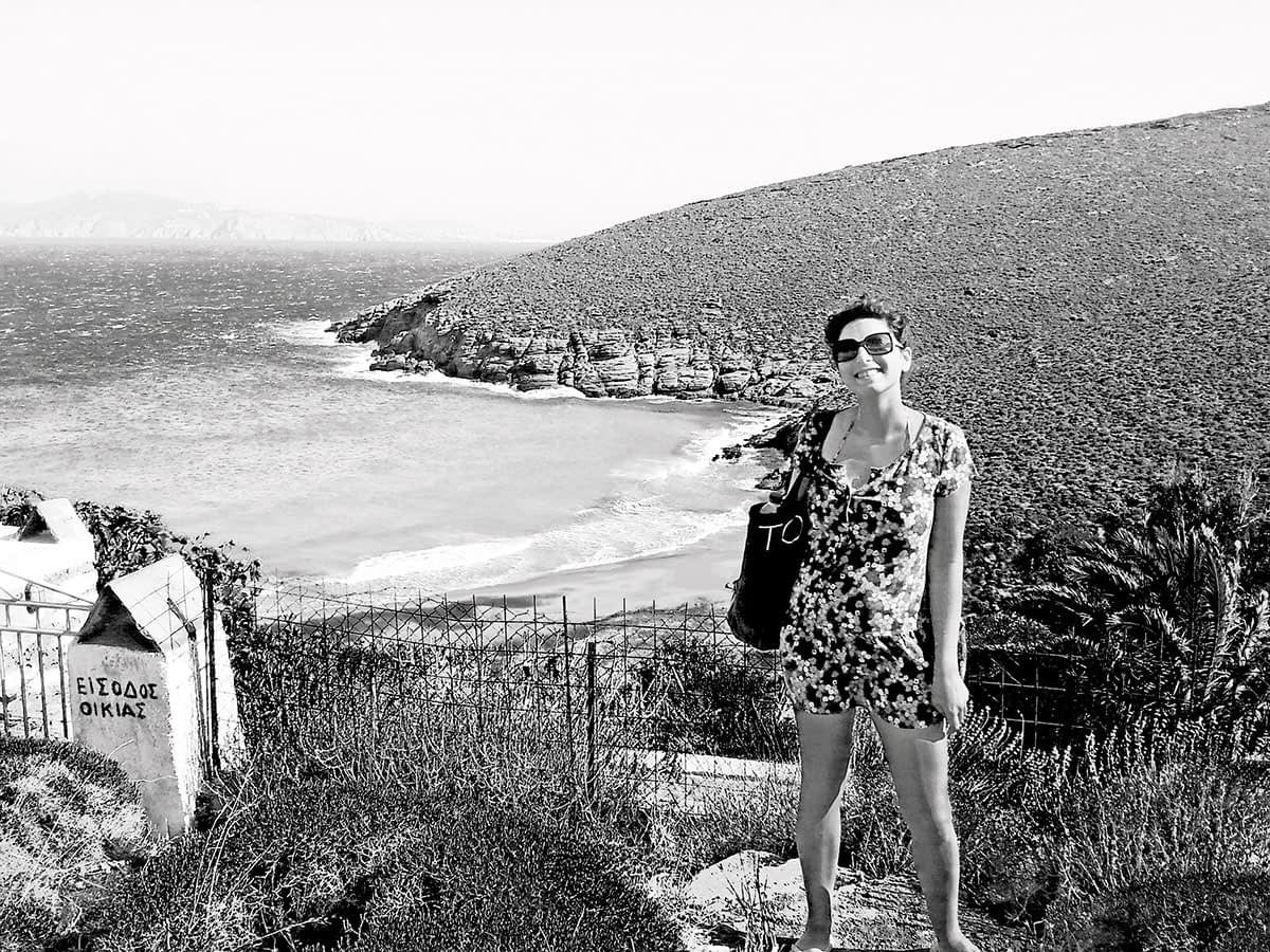 tinos-greek-island-pachia-ammos-beaches-tourism-vacation-sea-view-bw